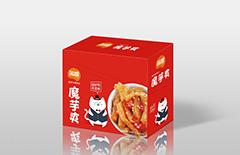 素毛肚纸盒包装|魔芋食品包装盒印