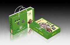 香菇干货纸盒手提袋包装定制