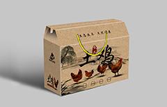 牛皮纸土鸡 礼盒 包装印刷...